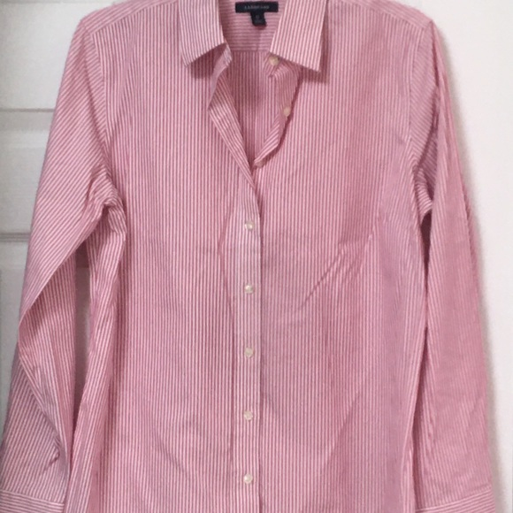 Lands' End Tops - Lands End No Iron Pinpoint Oxford Size 12.